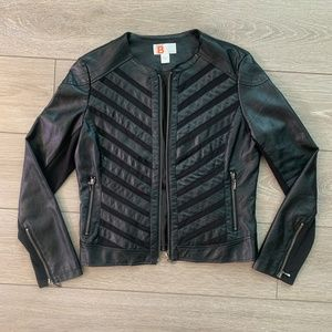 Stretchy Faux Leather Jacket Size M